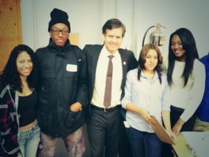 City-As-School Students meet with State Senator Brad Hoylman at the Performance-Based Education Conference